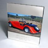 Silver Plated 5x7 Photo Frame, PERSONALISED, Contemporary ref SPCF2